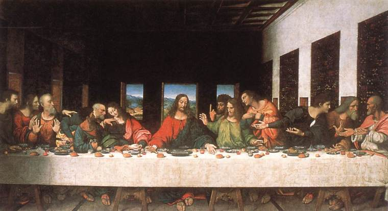 """The Last Supper,"" painting by Leonardo Da Vinci: If only we all could fail like this."