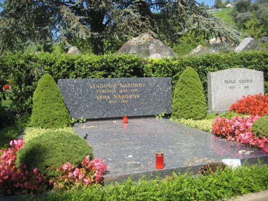 Nabokov grave, Switzerland