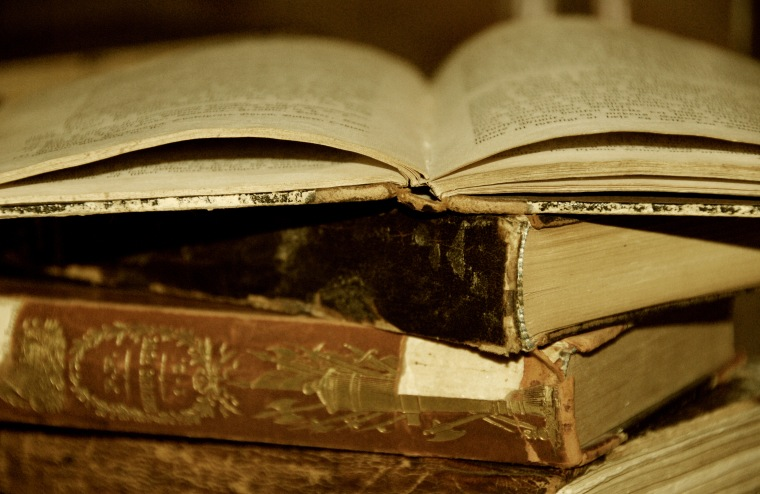 A worn-out, old book is a well-read, old book (image supplied by Lin Kristensen)