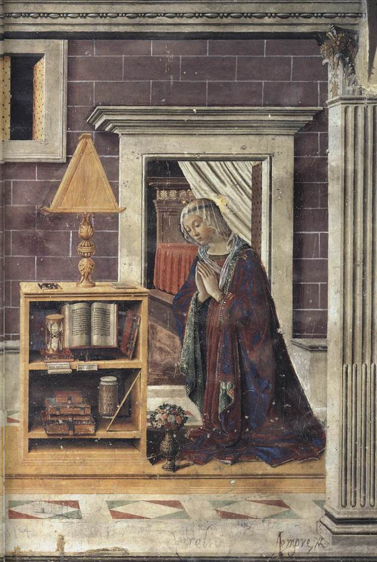 """The Annunciation,"" Sebastiano Mainardi, late 15th century"