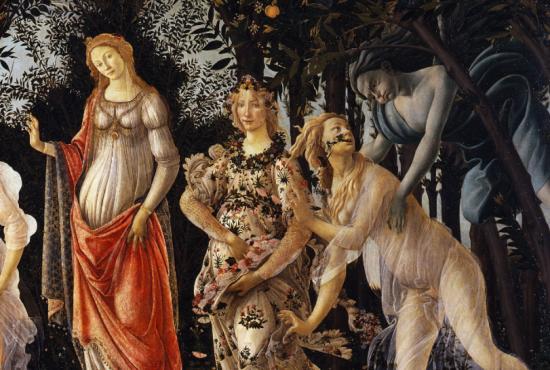 Primavera (detail), Botticeli (1482)