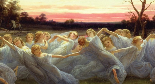 "Happy feet: These nymphs are almost as joyful as I am about ""The Dancing Goddesses"" (photo: detail from book cover)"