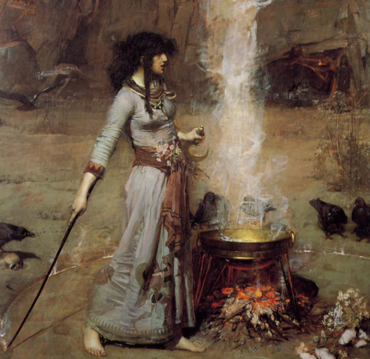 'Magic Circle' - John William Waterhouse (1886)