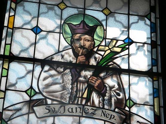 SHHH: St. Nepomuk, patron saint of secrets and silence.