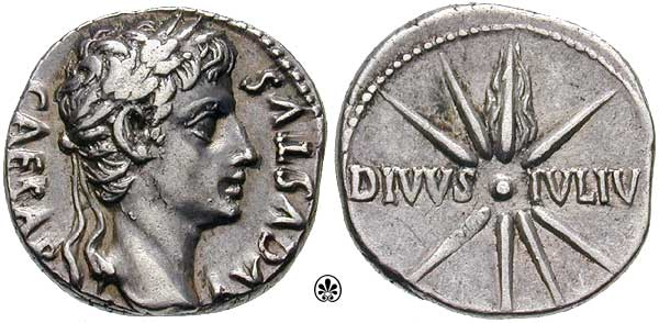 Coin minted in honor of Julius Caesar after his death.