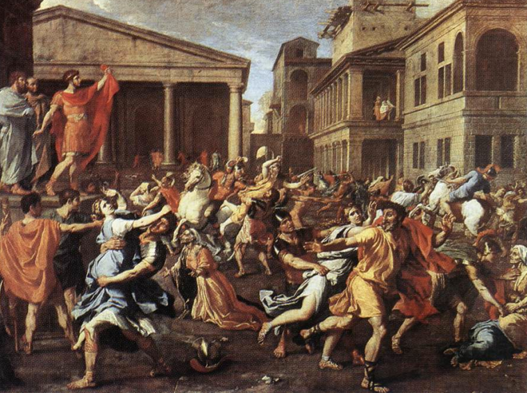 Rape of the Sabine Women by Nicolaus Poussin