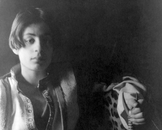 YOUNG POET: Kahlil Gibran in 1898